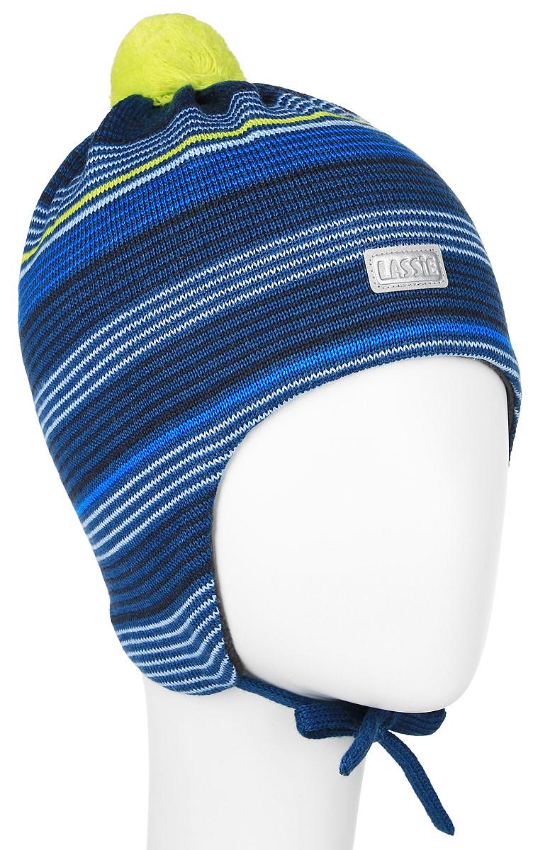 Шапка детская Lassie, цвет: серо-синий. 718692-8360. Размер XS (44/46)718692-8360Комфортная детская шапка Reima Lassie идеально подойдет для прогулок в холодное время года. Вязаная шапка с ветрозащитными вставками в области ушей, выполненная из шерсти и акрила, максимально сохраняет тепло, она мягкая и идеально прилегает к голове. Мягкая подкладка выполнена из хлопка с добавлением эластана, поэтому шапка хорошо сохраняет тепло и обладает отличной гигроскопичностью (не впитывает влагу, но проводит ее).Шапка завязывается на завязки под подбородком и оформлена принтом в полоску. Модель дополнена ярким помпоном и небольшой светоотражающей нашивкой с названием бренда.В ней ваш ребенок будет чувствовать себя уютно и комфортно. Уважаемые клиенты!Размер, доступный для заказа, является обхватом головы.