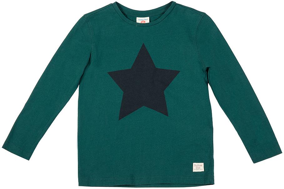 Лонгслив для мальчика Button Blue, цвет: зеленый. 216BBBC12040500. Размер 152, 12 лет216BBBC12040500Лонгслив с рисунком - основная составляющая модного детского функционального гардероба. Модель с длинным рукавом выполнена из высококачественного материала.