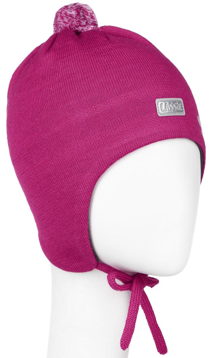 Шапка для девочки Lassie, цвет: фуксия. 718699-3520. Размер XXS (42/44)718699-3520Комфортная шапка для девочки Reima Lassie идеально подойдет для прогулок в холодное время года. Вязаная шапка с ветрозащитными вставками в области ушей, выполненная из шерсти и акрила, максимально сохраняет тепло, она мягкая и идеально прилегает к голове. Мягкая подкладка выполнена из флиса, поэтому шапка хорошо сохраняет тепло и обладает отличной гигроскопичностью (не впитывает влагу, но проводит ее).Шапка завязывается на завязки под подбородком и оформлена цветочным принтом, ярким помпоном и светоотражающей нашивкой с названием бренда.В ней ваша дочурка будет чувствовать себя уютно и комфортно. Уважаемые клиенты!Размер, доступный для заказа, является обхватом головы.