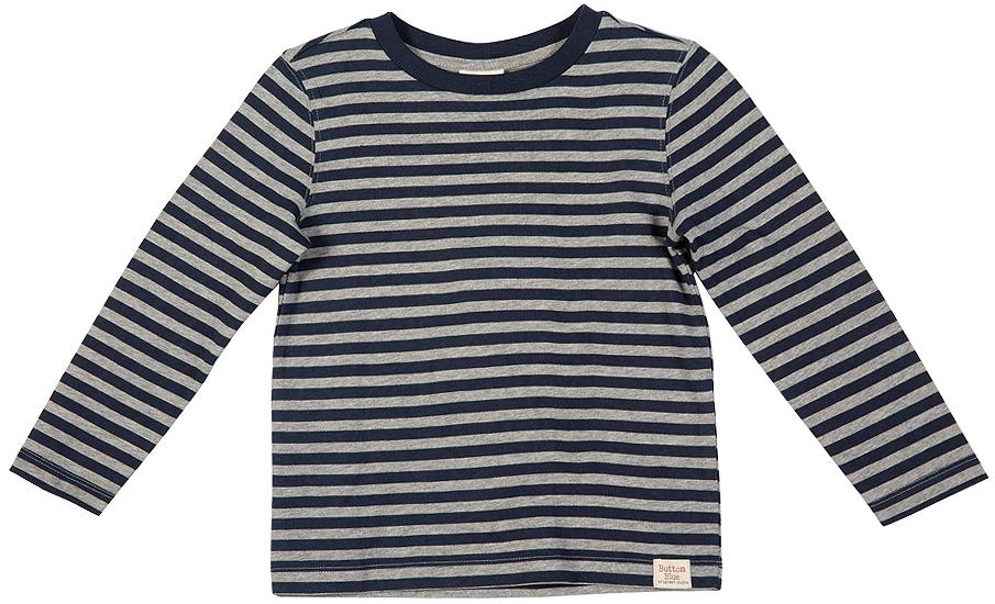 Лонгслив для мальчика Button Blue, цвет: белый, темно-синий. 216BBBC12051005. Размер 104, 4 года216BBBC12051005Лонгслив в полоску - основная составляющая модного детского функционального гардероба. Модель с длинным рукавом выполнена из высококачественного материала.