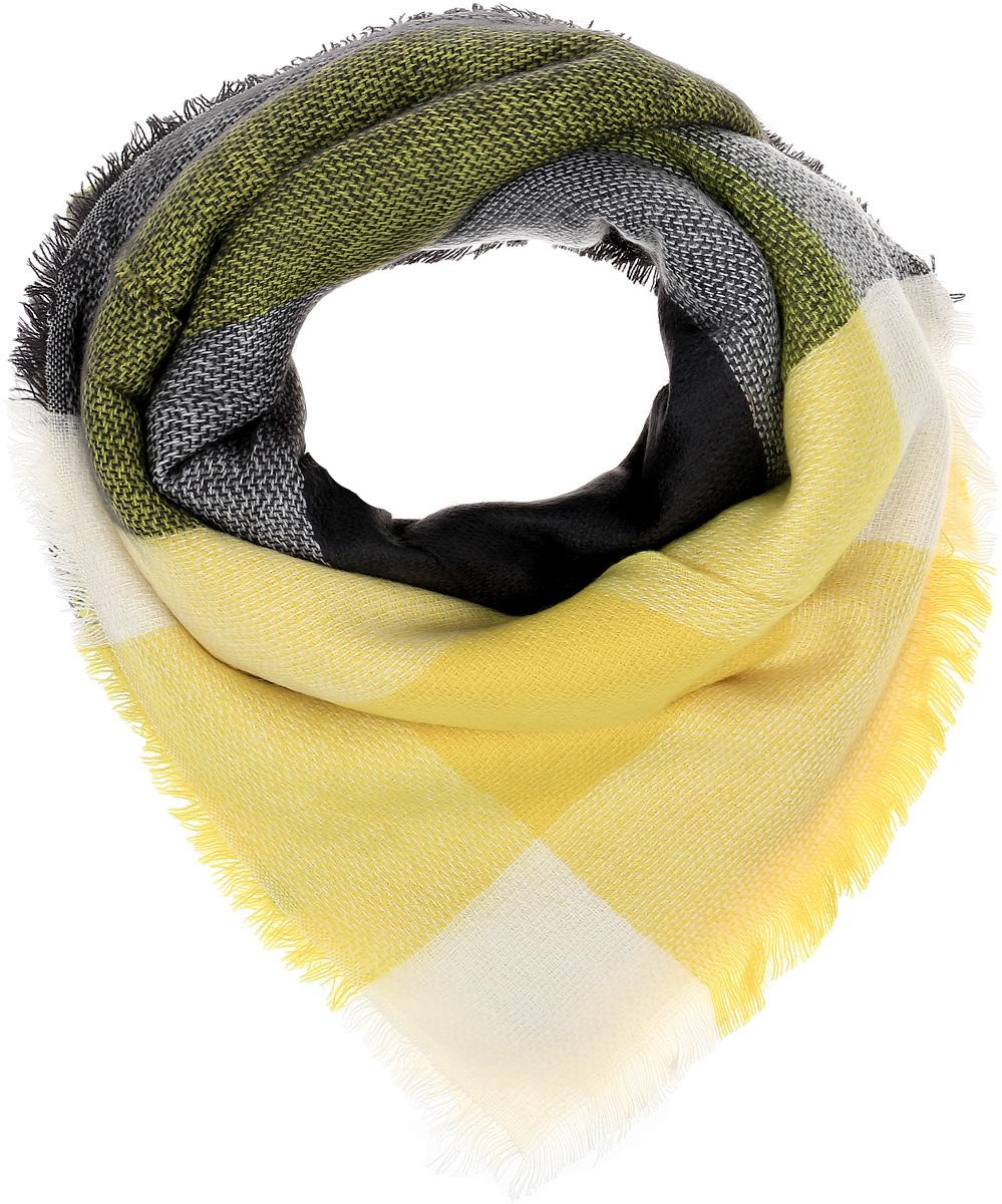 Палантин Sophie Ramage, цвет: серый, желтый. YY-21614-14. Размер 140 см x 140 смYY-21614-14Элегантный палантин Sophie Ramage станет достойным завершением вашего образа. Палантин изготовлен из акрила с добавлением высококачественной шерсти. Модель выполнена принтом в клетку и дополнена стильной бахромой. Палантин красиво драпируется, он превосходно дополнит любой наряд и подчеркнет ваш изысканный вкус. Легкий и изящный палантин привнесет в ваш образ утонченность и шарм.