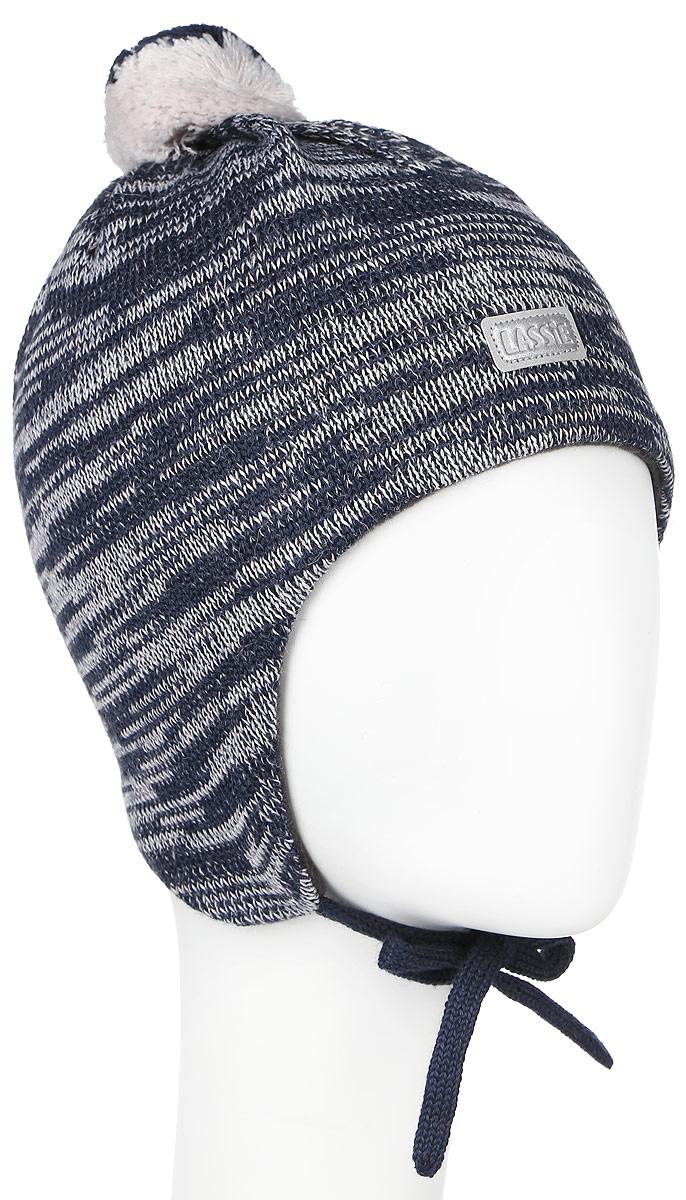 Шапка детская Lassie, цвет: темно-синий, белый. 718693-6990. Размер S (46/48)718693-6990Комфортная детская шапка Reima Lassie идеально подойдет для прогулок в холодное время года. Вязаная шапка с ветрозащитными вставками в области ушей, выполненная из шерсти и акрила, максимально сохраняет тепло, она мягкая и идеально прилегает к голове. Мягкая подкладка выполнена из флиса, поэтому шапка хорошо сохраняет тепло и обладает отличной гигроскопичностью (не впитывает влагу, но проводит ее).Шапка завязывается на завязки под подбородком и оформлена помпоном и небольшой светоотражающей нашивкой с названием бренда.В ней ваш ребенок будет чувствовать себя уютно и комфортно. Уважаемые клиенты!Размер, доступный для заказа, является обхватом головы.