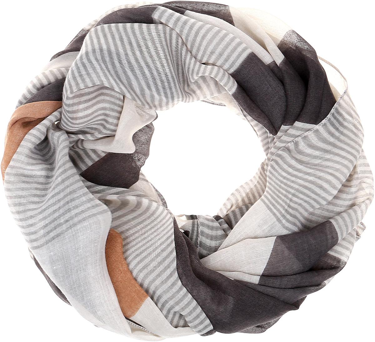Палантин Sophie Ramage, цвет: серый, коричневый. YY-21632-13. Размер 80 см х 180 смYY-21632-13Элегантный палантин Sophie Ramage станет достойным завершением вашего образа. Палантин изготовлен из высококачественного модала с добавлением шерсти. Оформлена модель стильным принтом. Палантин красиво драпируется, он превосходно дополнит любой наряд и подчеркнет ваш изысканный вкус. Легкий и изящный палантин привнесет в ваш образ утонченность и шарм.