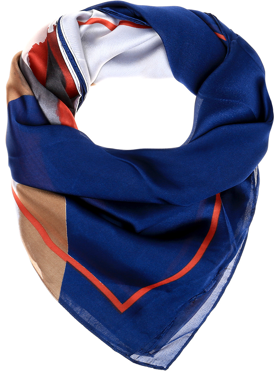 Платок женский Sophie Ramage, цвет: синий, красный, бежевый. HL-21670-18. Размер 140 см x 140 смHL-21670-18Элегантный платок Sophie Ramage станет достойным завершением вашего образа. Платок изготовлен из высококачественного полиэстера с добавлением шелка. Оформлена модель стильным принтом. Платок красиво драпируется, он превосходно дополнит любой наряд и подчеркнет ваш изысканный вкус. Легкий и изящный палантин привнесет в ваш образ утонченность и шарм.