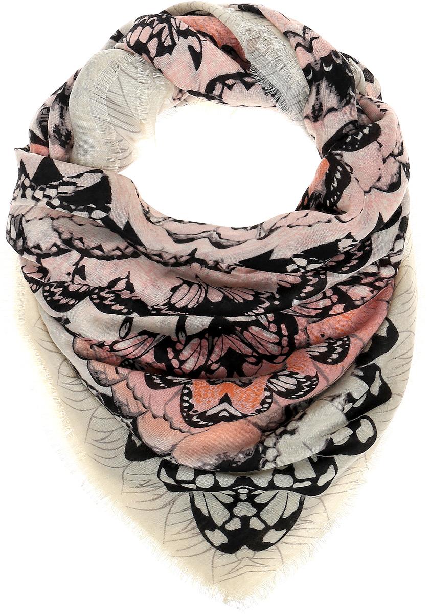 Платок женский Sophie Ramage, цвет: бежевый, розовый, черный. YY-21643-9. Размер 140 см x 140 смYY-21643-9Элегантный палантин Sophie Ramage станет достойным завершением вашего образа. Палантин изготовлен из модала с добавлением высококачественной шерсти. Модель оформлена стильным абстрактным изображением. Палантин красиво драпируется, он превосходно дополнит любой наряд и подчеркнет ваш изысканный вкус. Легкий и изящный палантин привнесет в ваш образ утонченность и шарм.