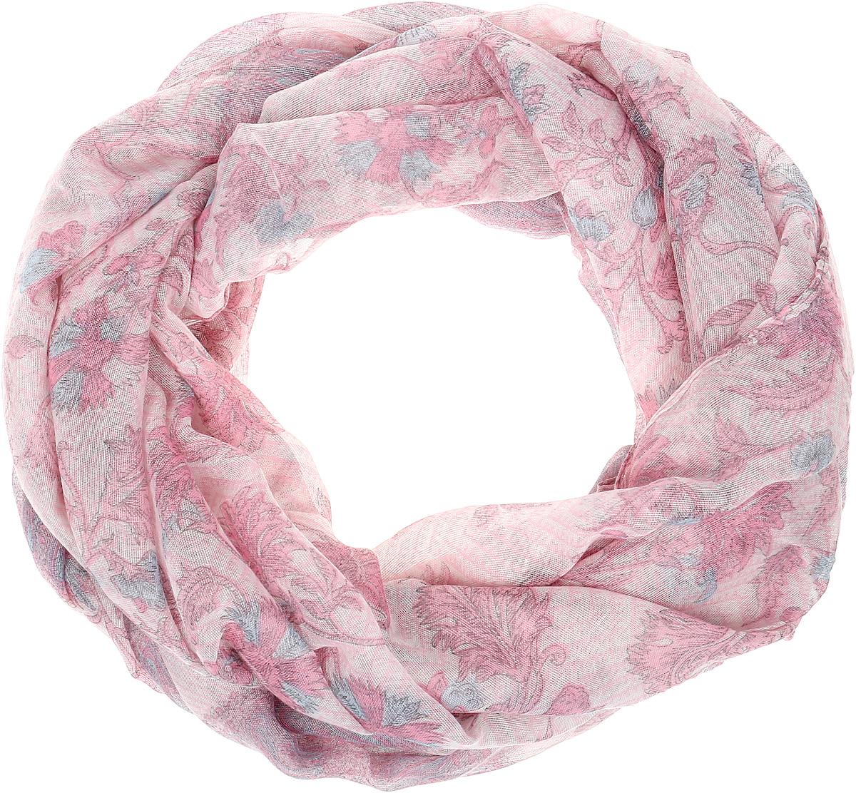 Палантин Sophie Ramage, цвет: розовый, серый. YY-21656-9. Размер 80 см х 180 смYY-21656-9Элегантный палантин Sophie Ramage станет достойным завершением вашего образа. Палантин изготовлен из высококачественного модала с добавлением шерсти. Оформлена модель стильными узорами и цветочным принтом. Палантин красиво драпируется, он превосходно дополнит любой наряд и подчеркнет ваш изысканный вкус. Легкий и изящный палантин привнесет в ваш образ утонченность и шарм.