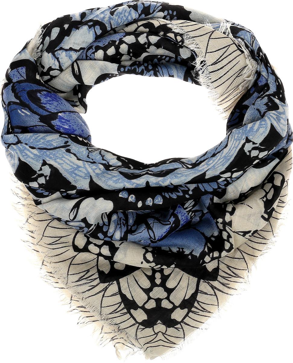 Платок женский Sophie Ramage, цвет: синий, черный, бежевый. YY-21643-3. Размер 130 см x 130 смYY-21643-3Элегантный палантин Sophie Ramage станет достойным завершением вашего образа. Палантин изготовлен из модала с добавлением высококачественной шерсти. Модель оформлена стильным абстрактным изображением. Палантин красиво драпируется, он превосходно дополнит любой наряд и подчеркнет ваш изысканный вкус. Легкий и изящный палантин привнесет в ваш образ утонченность и шарм.