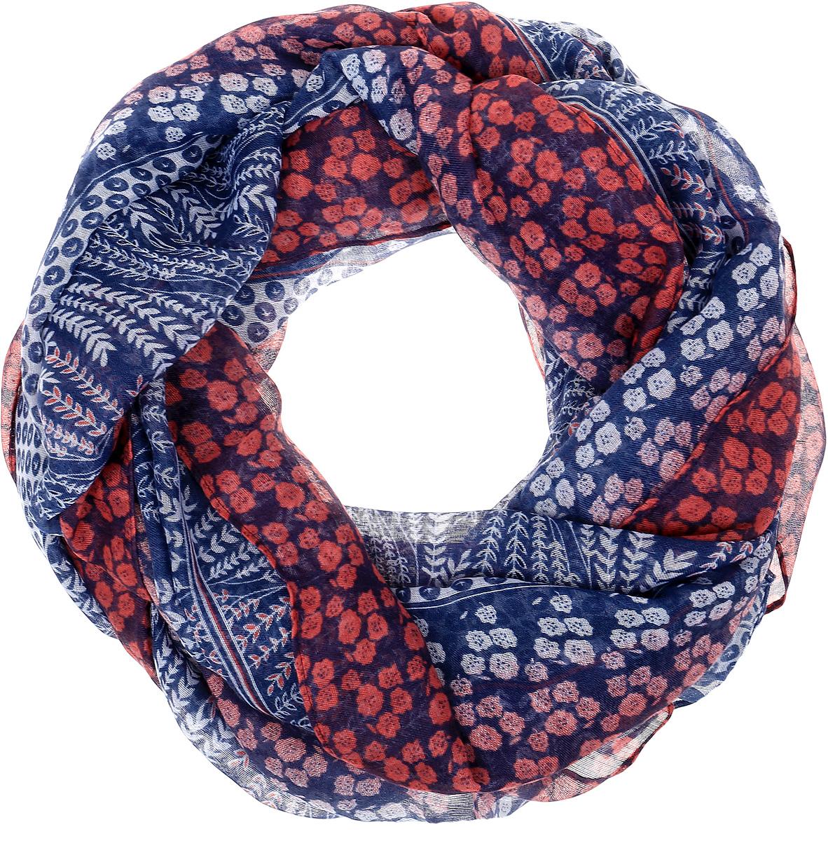 Палантин Sophie Ramage, цвет: синий, фуксия, белый. SJ-21601. Размер 80 см х 180 смSJ-21601Элегантный палантин Sophie Ramage станет достойным завершением вашего образа. Палантин изготовлен из высококачественного модала с добавлением шелка. Оформлена модель цветочным принтом. Палантин красиво драпируется, он превосходно дополнит любой наряд и подчеркнет ваш изысканный вкус. Легкий и изящный палантин привнесет в ваш образ утонченность и шарм.