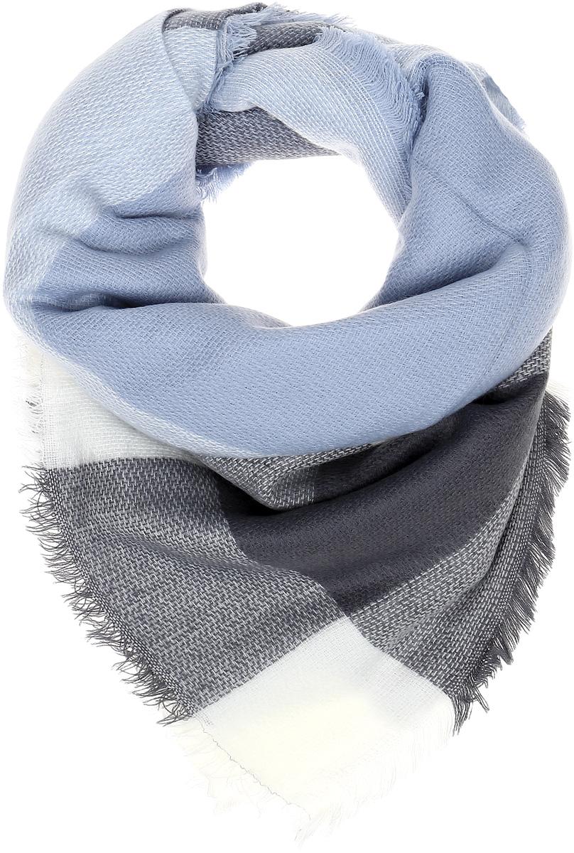 Палантин Sophie Ramage, цвет: голубой, серый, белый. YY-21604-4. Размер 140 см x 140 смYY-21604-4Элегантный палантин Sophie Ramage станет достойным завершением вашего образа. Палантин изготовлен из высококачественного акрила с добавлением шерсти. Оформлена модель стильным принтом. Палантин красиво драпируется, он превосходно дополнит любой наряд и подчеркнет ваш изысканный вкус. Легкий и изящный палантин привнесет в ваш образ утонченность и шарм.