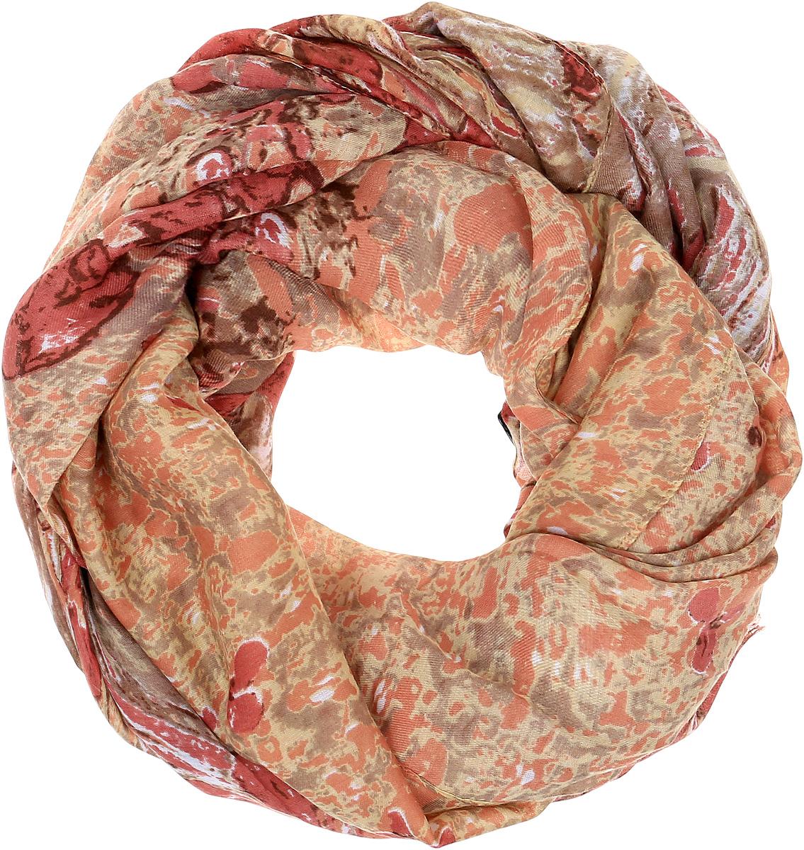 Палантин Sophie Ramage, цвет: каштановый, бежевый. HL-21670-17. Размер 90 см х 180 смHL-21670-17Элегантный палантин Sophie Ramage станет достойным завершением вашего образа. Палантин изготовлен из высококачественного модала с добавлением шерсти. Оформлена модель стильным цветочным принтом. Палантин красиво драпируется, он превосходно дополнит любой наряд и подчеркнет ваш изысканный вкус. Легкий и изящный палантин привнесет в ваш образ утонченность и шарм.