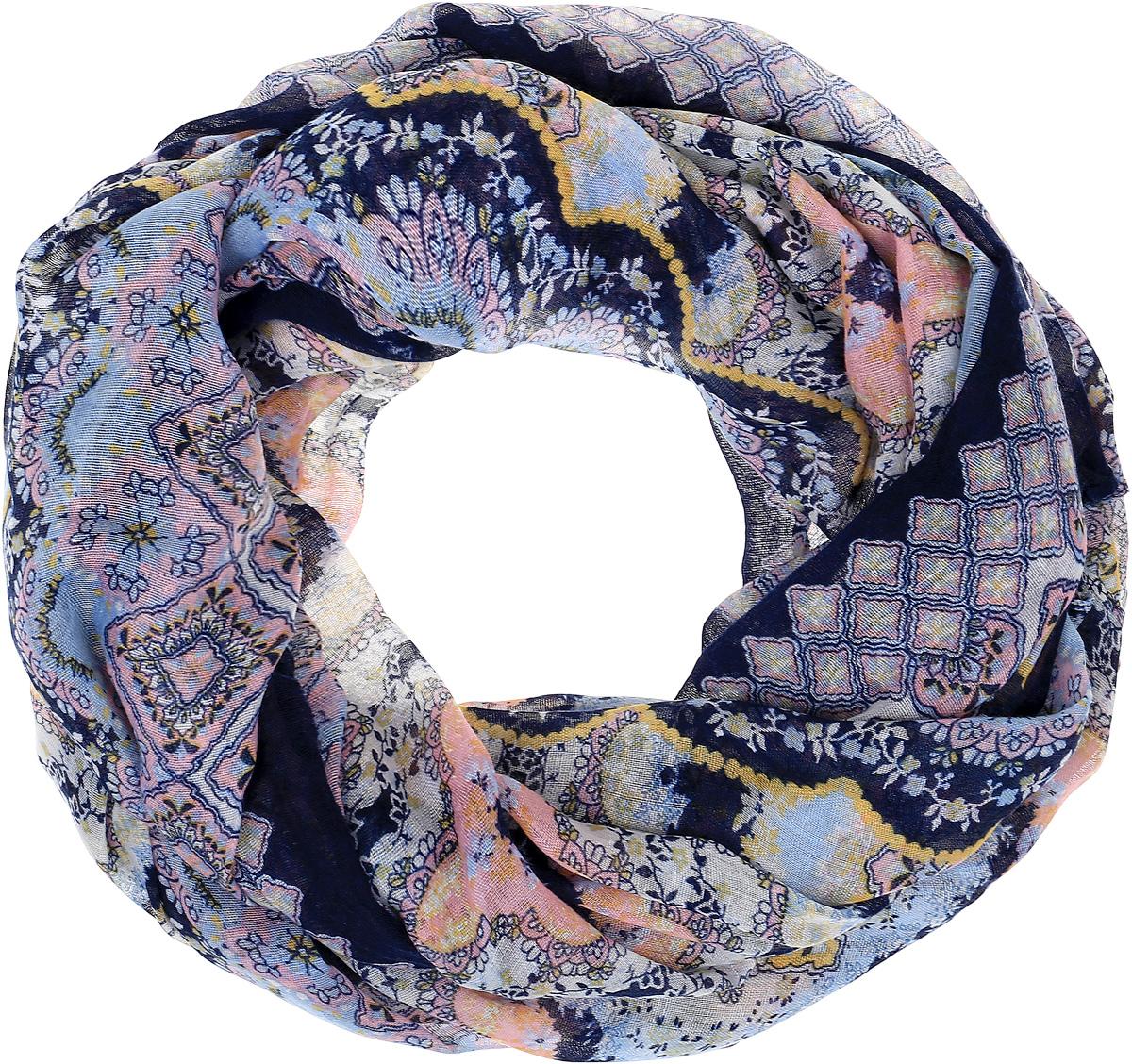 Палантин Sophie Ramage, цвет: синий, розовый. HL-21667-9. Размер 80 см х 180 смHL-21667Элегантный палантин Sophie Ramage станет достойным завершением вашего образа. Палантин изготовлен из высококачественного модала с добавлением шерсти. Оформлена модель стильными узорами. Палантин красиво драпируется, он превосходно дополнит любой наряд и подчеркнет ваш изысканный вкус. Легкий и изящный палантин привнесет в ваш образ утонченность и шарм.
