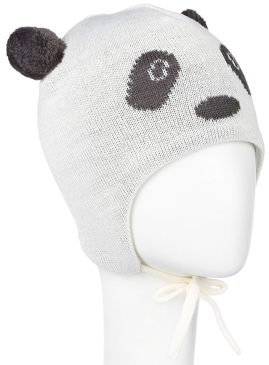 Шапка детская Lassie, цвет: бежевый, темно-серый. 718698-0110. Размер XXS (42/44)718698-0110Комфортная детская шапка Reima Lassie идеально подойдет для прогулок в холодное время года. Вязаная шапка с ветрозащитными вставками в области ушей, выполненная из шерсти и акрила, максимально сохраняет тепло, она мягкая и идеально прилегает к голове. Мягкая подкладка выполнена из флиса, поэтому шапка хорошо сохраняет тепло и обладает отличной гигроскопичностью (не впитывает влагу, но проводит ее).Шапка завязывается на завязки под подбородком и оформлена двумя помпонами, небольшой мордочкой медвежонка и светоотражающей нашивкой с названием бренда.В ней ваш ребенок будет чувствовать себя уютно и комфортно. Уважаемые клиенты!Размер, доступный для заказа, является обхватом головы.
