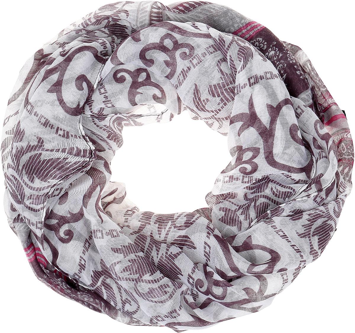 Палантин Sophie Ramage, цвет: серый, темно-сиреневый. YY-21664-6. Размер 80 см х 180 смYY-21664-6Элегантный палантин Sophie Ramage станет достойным завершением вашего образа. Палантин изготовлен из высококачественного модала с добавлением шерсти. Оформлена модель стильными узорами. Палантин красиво драпируется, он превосходно дополнит любой наряд и подчеркнет ваш изысканный вкус. Легкий и изящный палантин привнесет в ваш образ утонченность и шарм.