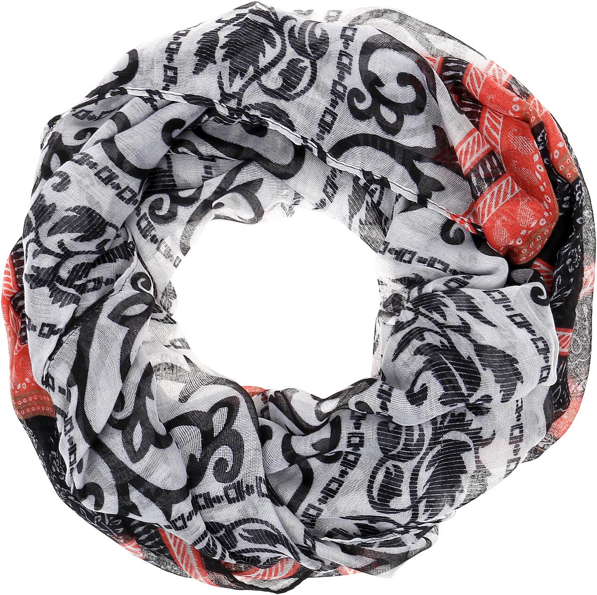 Палантин Sophie Ramage, цвет: красный, черный, серый. YY-21664-5. Размер 80 см х 180 смYY-21664-5Элегантный палантин Sophie Ramage станет достойным завершением вашего образа. Палантин изготовлен из высококачественного модала с добавлением шерсти. Оформлена модель стильными узорами. Палантин красиво драпируется, он превосходно дополнит любой наряд и подчеркнет ваш изысканный вкус. Легкий и изящный палантин привнесет в ваш образ утонченность и шарм.