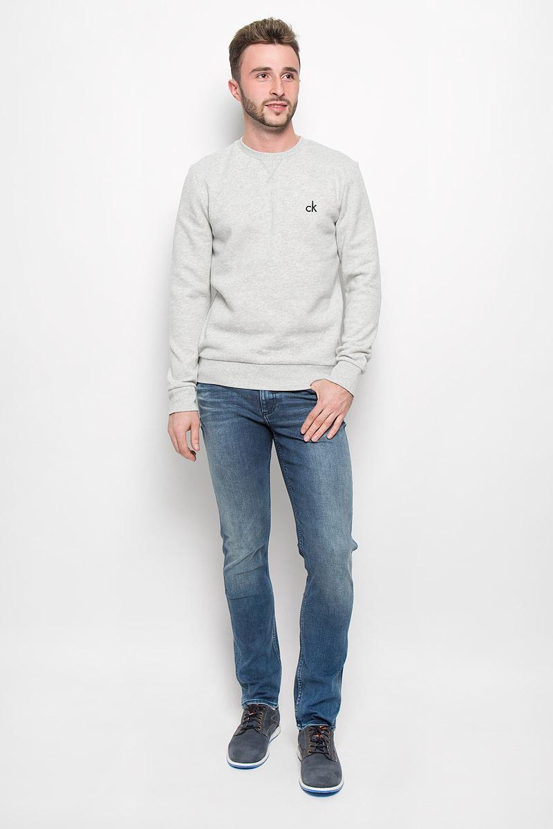 Свитшот мужской Calvin Klein Jeans, цвет: серый. J30J300603_0380. Размер S (44/46) calvin klein серый мужской галстук calvin klein 10156