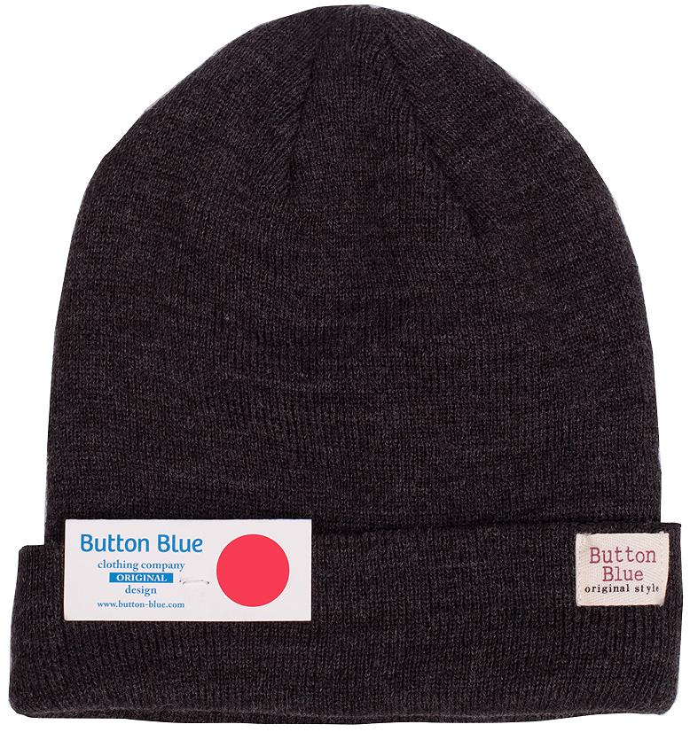Шапка для мальчика Button Blue, цвет: темно-серый меланж. 216BBBX73022300. Размер 52, 5-7 лет216BBBX73022300Детская вязаная шапка - важный атрибут повседневной одежды! Модель выполнена из высококачественного материала и оформлена подворотом. Уважаемые клиенты!Размер, доступный для заказа, является обхватом головы ребенка.