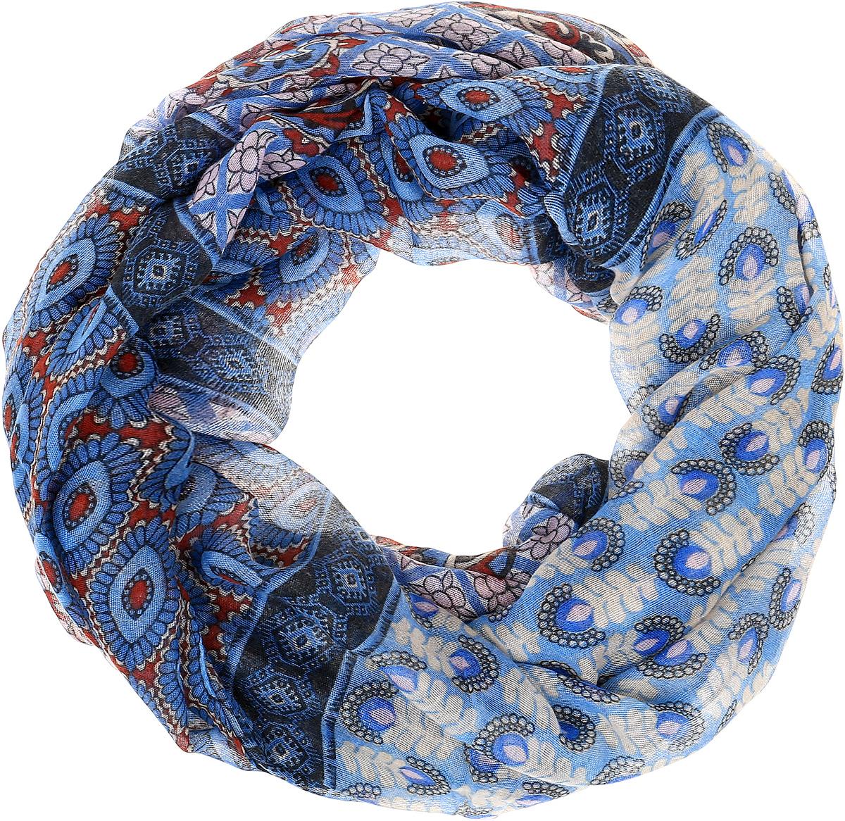 Палантин Sophie Ramage, цвет: голубой, синий. YY-21655-3. Размер 80 см х 180 смYY-21655-3Элегантный палантин Sophie Ramage станет достойным завершением вашего образа. Палантин изготовлен из высококачественного модала с добавлением шерсти. Оформлена модель стильными узорами. Палантин красиво драпируется, он превосходно дополнит любой наряд и подчеркнет ваш изысканный вкус. Легкий и изящный палантин привнесет в ваш образ утонченность и шарм.