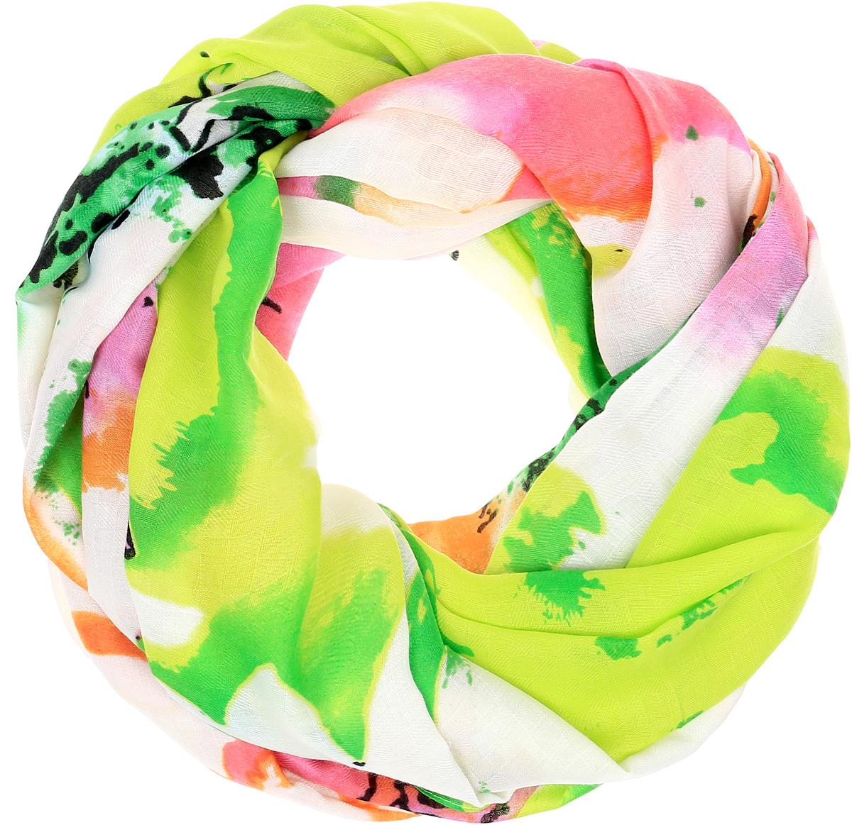 Палантин Sophie Ramage, цвет: салатовый, белый, розовый. YY-21665-24. Размер 100 см х 200 смYY-21665-24Элегантный палантин Sophie Ramage станет достойным завершением вашего образа. Палантин изготовлен из высококачественного модала. Оформлена модель стильным цветочным принтом. Палантин красиво драпируется, он превосходно дополнит любой наряд и подчеркнет ваш изысканный вкус. Легкий и изящный палантин привнесет в ваш образ утонченность и шарм.