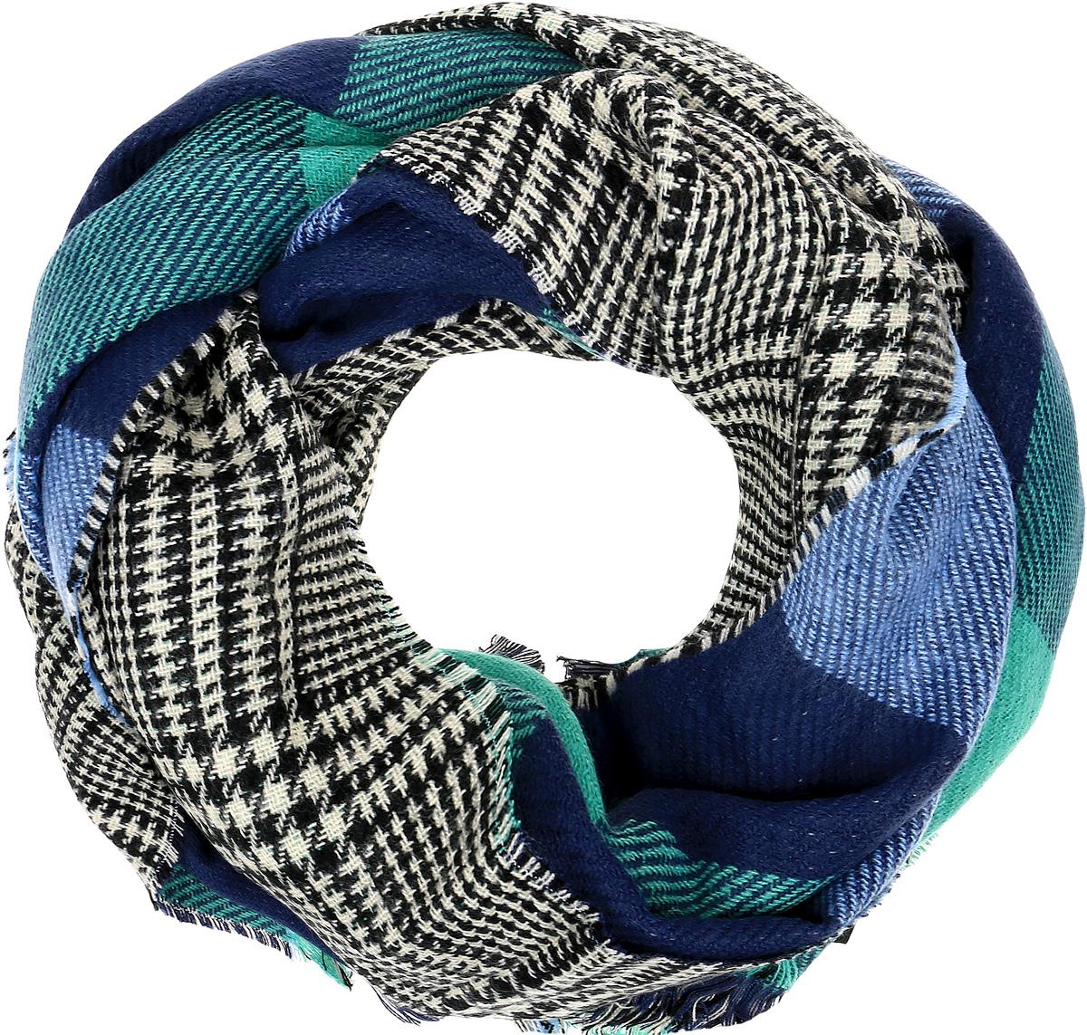 Палантин Sophie Ramage, цвет: синий мультиколор. SJ-21605-3. Размер 70 см х 180 смSJ-21605-3Элегантный палантин Sophie Ramage станет достойным завершением вашего образа. Палантин изготовлен из акрила с добавлением высококачественной шерсти. Модель оформлена принтом в большую клетку и дополнена стильной бахромой. Палантин красиво драпируется, он превосходно дополнит любой наряд и подчеркнет ваш изысканный вкус. Легкий и изящный палантин привнесет в ваш образ утонченность и шарм.