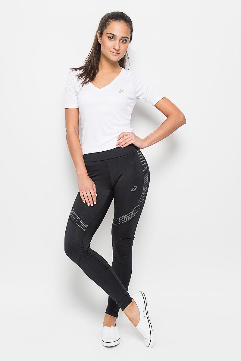 Тайтсы для бега женские Asics Lite-Show Winter Tight, цвет: черный. 134076-0904. Размер L (46/48)