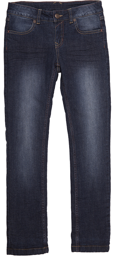 Брюки (джинсы) для девочек Button Blue, цвет: синяя джинса. 216BBGC6401D100. Размер 110, 5 лет216BBGC6401D100Джинсы с потертостями и варкой - залог хорошего настроения! Модный силуэт, удобная посадка на фигуре, подкладка из мягкого флиса подарят тепло, комфорт и свободу движений. Выполнены из высококачественного материала.