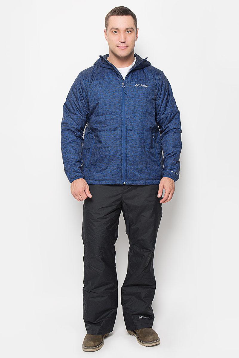 Куртка мужская Columbia Mighty Light Hooded Jacket, цвет: синий, черный. 1682932-448. Размер XL (52/54)1682932-448Отличная мужская куртка Columbia Mighty Light Hooded Jacket, выполненная из полиэстера, незаменимая вещь в прохладную погоду. Технология Omni-Heat обеспечивает идеальную терморегуляцию, водоотталкивающая пропитка защитит от грязи и легкого дождя. Модель с несъемным капюшоном и длинными рукавами застегивается на застежку-молнию с зашитой для подбородка и внутренней ветрозащитной планкой. Края воротника, низ рукавов и низ изделия обработаны эластичной бейкой. Спереди куртка дополнена двумя вместительными прорезными карманами на застежках-молниях. С внутренней стороны изделия расположен прорезной карман на застежке молнии. На груди модель оформлена вышитым логотипом бренда. Эта потрясающая куртка послужит отличным дополнением к вашему гардеробу!