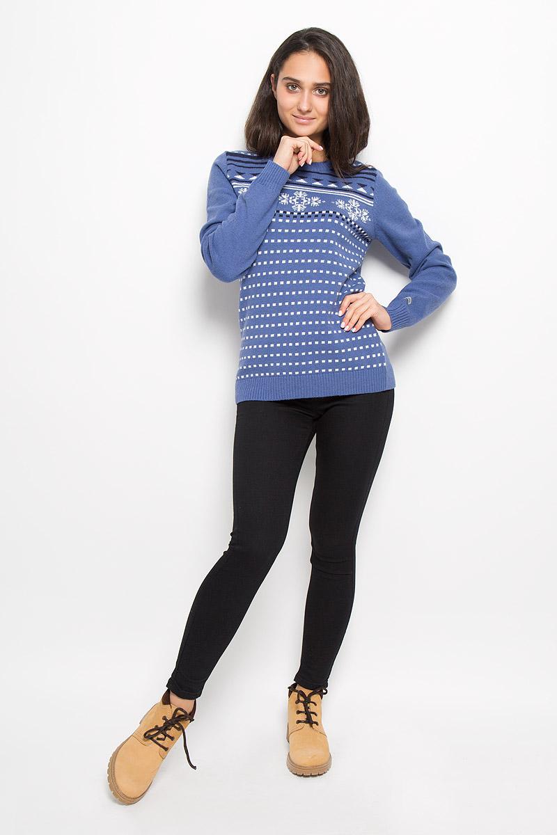 Джемпер женский Columbia Behind The Lines II Sweater, цвет: синий. 1684331-508. Размер L (48)1684331-508Оригинальный женский джемпер Columbia Behind The Lines II Sweater, изготовленный из высококачественной пряжи, мягкий и приятный на ощупь, не сковывает движений и обеспечивает наибольший комфорт.Модель с круглым вырезом горловины и длинными рукавами великолепно подойдет для создания образа в стиле Casual. Джемпер оформлен оригинальным узором, он отлично сочетается с любыми нарядами. Низ изделия, манжеты и горловина связаны резинкой. Этот джемпер послужит отличным дополнением к вашему гардеробу. В нем вы всегда будете чувствовать себя уютно и комфортно в прохладную погоду.