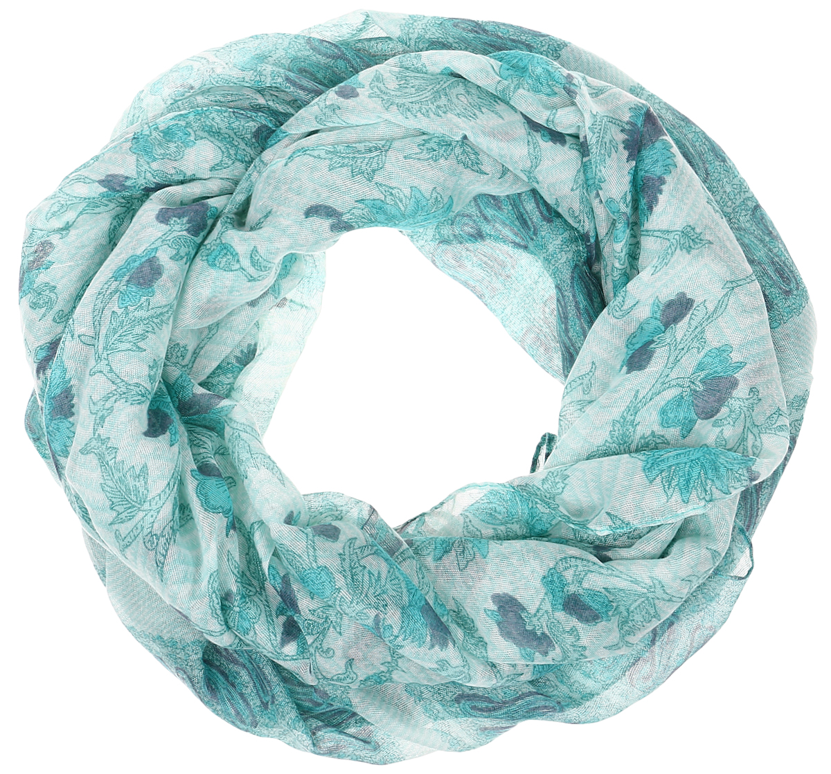 Палантин Sophie Ramage, цвет: морская волна. YY-21656-7. Размер 80 см х 180 смYY-21656-7Элегантный палантин Sophie Ramage станет достойным завершением вашего образа. Палантин изготовлен из высококачественного модала с добавлением шерсти. Оформлена модель стильными узорами и цветочным принтом. Палантин красиво драпируется, он превосходно дополнит любой наряд и подчеркнет ваш изысканный вкус. Легкий и изящный палантин привнесет в ваш образ утонченность и шарм.