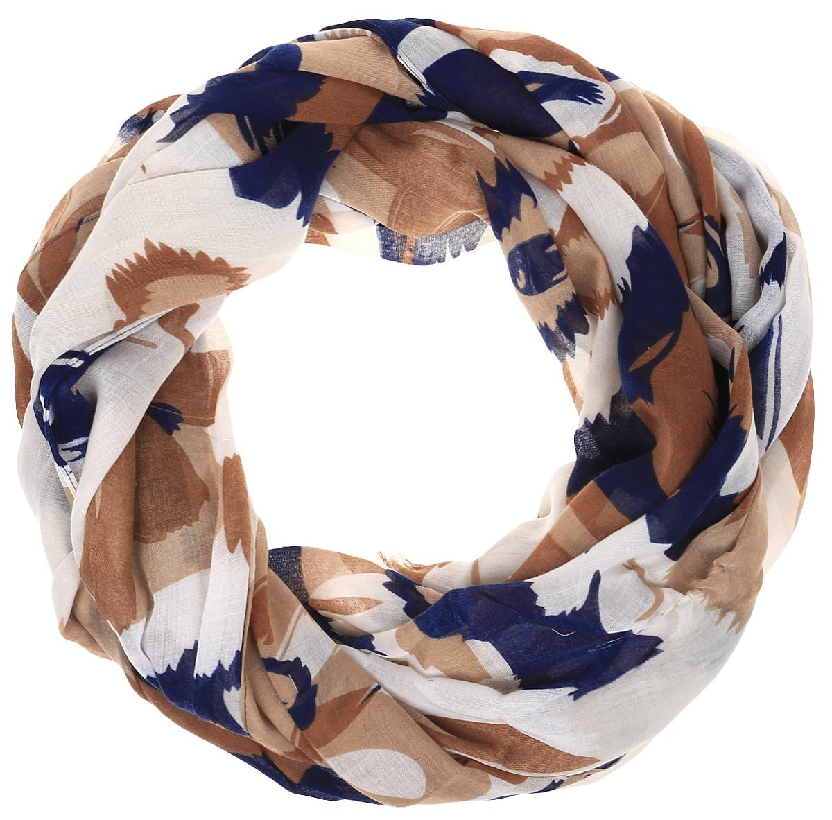 Палантин Sophie Ramage, цвет: коричневый, синий, молочный. HL-21670-16. Размер 70 см х 180 смHL-21670-16Элегантный палантин Sophie Ramage станет достойным завершением вашего образа. Палантин изготовлен из модала с добавлением высококачественной шерсти. Модель оформлена стильным цветочным принтом. Палантин красиво драпируется, он превосходно дополнит любой наряд и подчеркнет ваш изысканный вкус. Легкий и изящный палантин привнесет в ваш образ утонченность и шарм.