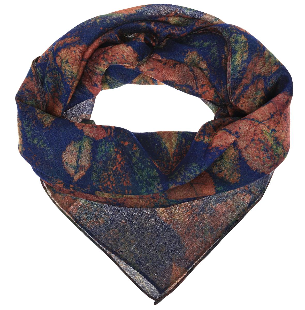 Платок женский Sophie Ramage, цвет: синий, коричневый, зеленый. YY-21681-1. Размер 90 см х 90 смYY-21681-1Элегантный платок Sophie Ramage станет достойным завершением вашего образа. Платок изготовлен из высококачественной вискозы. Оформлена модель стильным принтом. Платок красиво драпируется, он превосходно дополнит любой наряд и подчеркнет ваш изысканный вкус. Легкий и изящный палантин привнесет в ваш образ утонченность и шарм.