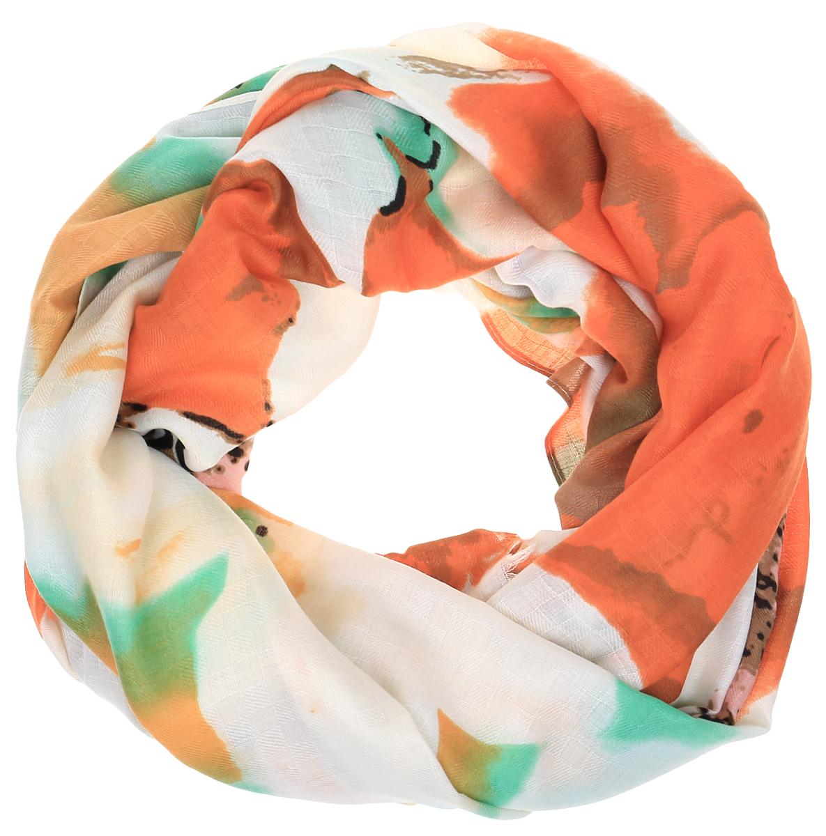 Палантин Sophie Ramage, цвет: зеленый, оранжевый. YY-21665-25. Размер 100 см х 200 смYY-21665-25Элегантный палантин Sophie Ramage станет достойным завершением вашего образа. Палантин изготовлен из высококачественного модала. Оформлена модель стильным цветочным принтом. Палантин красиво драпируется, он превосходно дополнит любой наряд и подчеркнет ваш изысканный вкус. Легкий и изящный палантин привнесет в ваш образ утонченность и шарм.