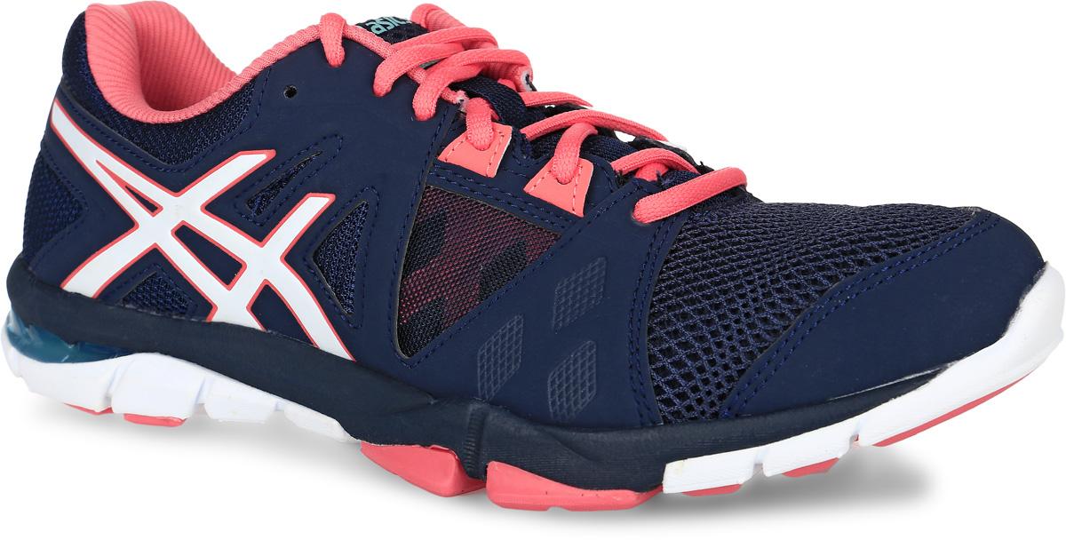 Кроссовки для фитнеса женские Asics Gel-Craze Tr 3, цвет: темно-синий, оранжевый. S653Y-5801. Размер 7H (37,5)S653Y-5801Кроссовки Gel-Craze Tr 3 от asics помогут вам извлечь максимум из тренировок. Тренажеры, упражнения в партере, групповые занятия и поднятие весов — любые тренировки станут более комфортными. Уплотненный носок упростит боковые перемещения и повороты, придаст устойчивость при движениях из стороны в сторону. Усиленная устойчивая платформа и жесткая пятка помогают в приседаниях и поднятии весов. Гелевая амортизация позволяет заниматься и на кардиотренажерах. Кроссовки, сочетающие амортизацию и поддержку, подойдут для занятий в зале и на улице, с весами и на кардиотренажерах, сделают бег комфортным.