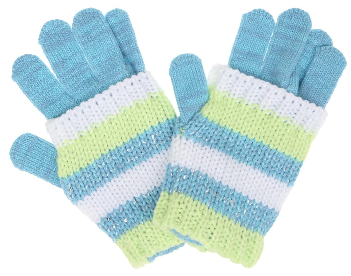 Перчатки для девочки Scool, цвет: голубой, белый, салатовый. 364180. Размер 18364180Вязаные перчатки для девочки Scool идеально подойдут вашему ребенку для прогулок в прохладное время года. Изготовленные из 100% акрила, они мягкие и приятные на ощупь, хорошо сохраняют тепло.Благодаря широким эластичным манжетам, не стягивающим запястья, перчатки надежно фиксируются на руках ребенка. Поверх надеваются полосатые митенки, украшенные мелкими серебристыми пайетками. Современный дизайн и расцветка делают эти перчатки модным предметом детского гардероба. В них ваша дочурка будет чувствовать себя тепло, уютно и комфортно.