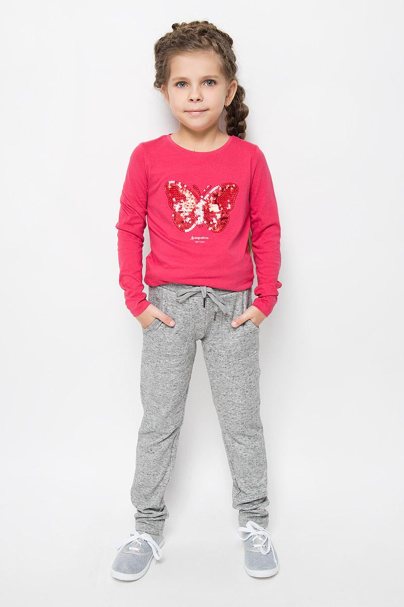 Брюки спортивные для девочки Sela, цвет: серый меланж. Pk-615/1000-6415. Размер 128, 8 летPk-615/1000-6415Утепленные спортивные брюки для девочки Sela идеально подойдут вашей маленькой моднице. Изготовленные из полиэстера и хлопка, они необычайно мягкие и приятные на ощупь, не сковывают движения и хорошо пропускают воздух, обеспечивая комфорт. Изнаночная сторона с мягким плюшевым ворсом. Отделка брюк выполнена из эластичного хлопка.Брюки слегка зауженного кроя дополнены в поясе мягкой трикотажной резинкой с затягивающимся шнурком. Спереди расположены два втачнах кармашка.В таких брючках вашей принцессе будет тепло, уютно и комфортно!