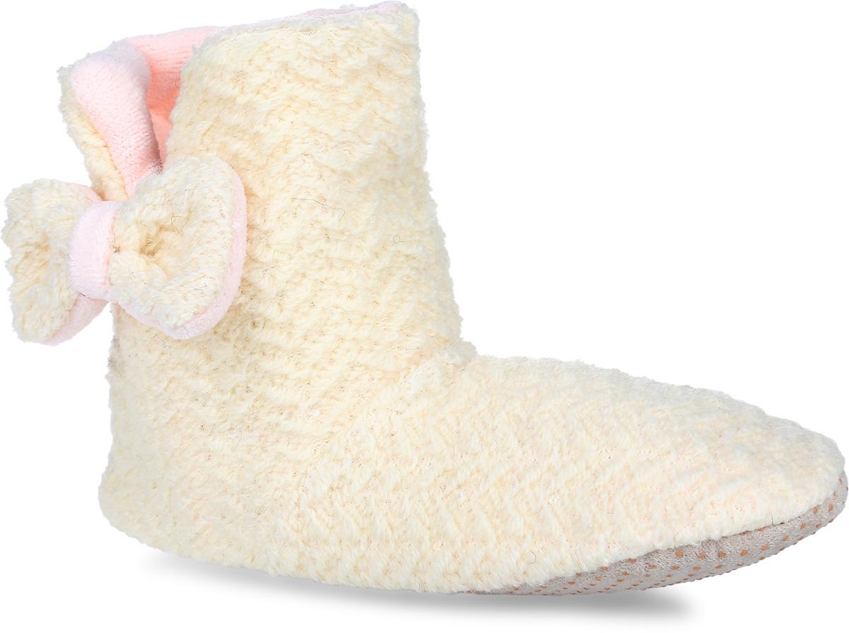 Тапки-угги женские Burlesco, цвет: светло-бежевый. H44. Размер 40/41H44Женские тапки-угги Burlesco не дадут вашим ногам замерзнуть. Верх и внутренняя поверхность модели выполнены из мягкого текстиля. С боку модель декорирована разрезом и небольшим бантиком. Тапки обеспечат прогрев ног сухим теплом, защитят от воздействия холода и сквозняков, и снимут усталость ног. Подошва дополнена силиконовыми вставками против скольжения. Легкие и мягкие тапки подарят чувство уюта и комфорта.