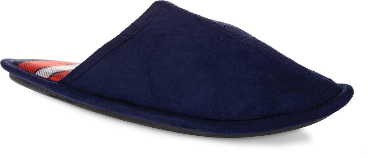 Тапки мужские Burlesco, цвет: темно-синий. H147. Размер: 41/42H147Удобные мужские тапки Burlesco, выполненные из плотного текстиля, помогут отдохнуть вашим ногам после трудового дня. Внутренняя поверхность и стелька также выполнена плотного текстиля и оформлена принтом в клетку. Рельефная подошва, выполненная из материала ТЭП, обеспечивает сцепление с любой поверхностью. Материал ТЭП не пропускает и не впитывает воду.Тапки обеспечат прогрев ног сухим теплом, защитят от воздействия холода и сквозняков, и снимут усталость ног. Легкие и мягкие тапки подарят чувство уюта и комфорта.