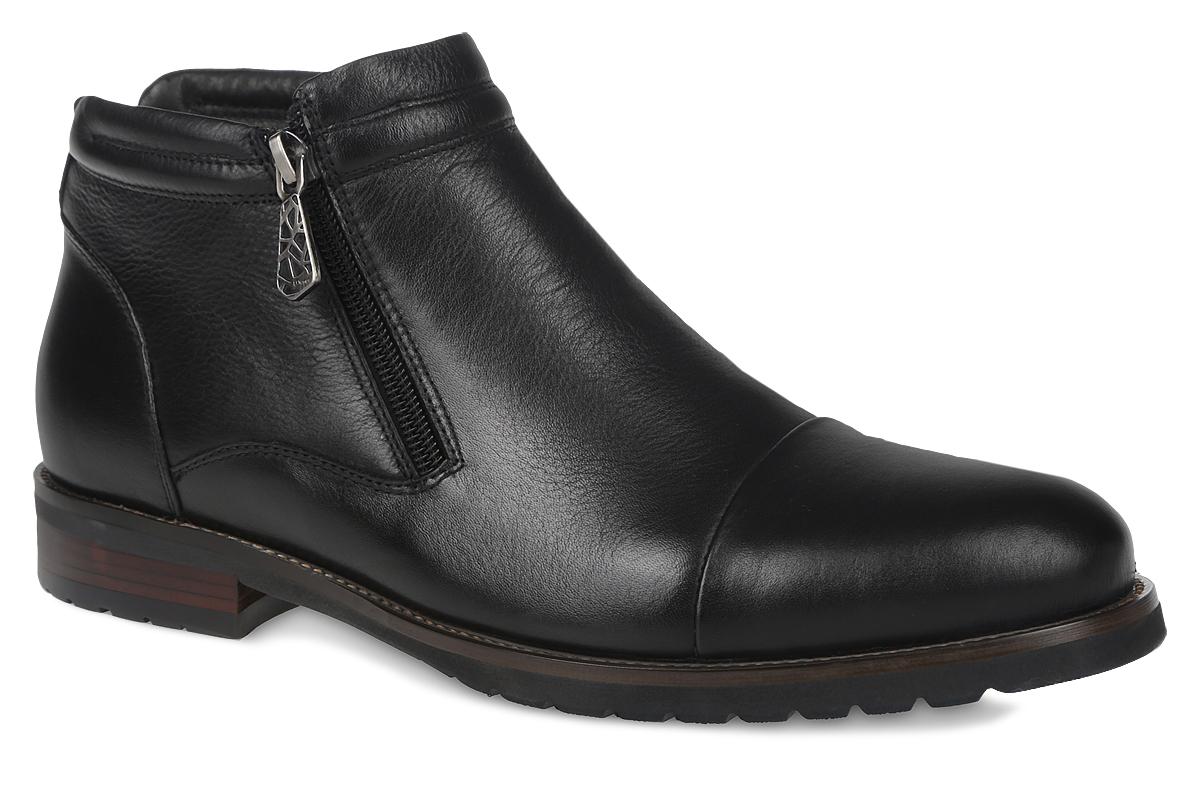 Ботинки мужские El Tempo, цвет: черный. CRS52_139-22-227. Размер 43CRS52_139-22-227_BLACKМужские ботинки от El Tempo выполненные из натуральной кожи, имеют две застежки-молнии расположенные по бокам. Стелька, выполненная из байки, предотвратит натирание и обеспечит комфорт при носке. Поверхность стельки дополнена фирменной нашивкой. Подошва изготовлена из прочной и гибкой резины и дополнена протекторами с рифлением на подошве, что гарантирует отличное сцепление с различными поверхностями.