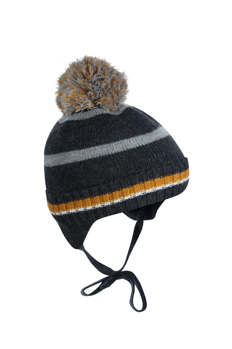 Шапка для мальчика OLDOS Классик, цвет: серый, охра. 1Ш1616. Размер 46/481Ш1616Шапка-бэби с завязками Классик из зимней коллекции OLDOS прекрасно защитит головку вашего малыша от снегопада, мороза и ветра. Такая шапка хорошо закрывает ушки, завязки фиксируют шапку так, чтобы ничего не мешало игре или прогулке. Шапка мягкая и теплая благодаря утеплителю холлофайбер плотностью 70 г и составу пряжи 70% шерсть и 30% акрил. Подкладка из вискозы отводит излишнюю влагу и сохраняет ощущение комфорта во время прогулок. Шапка дополнена декоративным отворотом и съемным нитяным помпоном.
