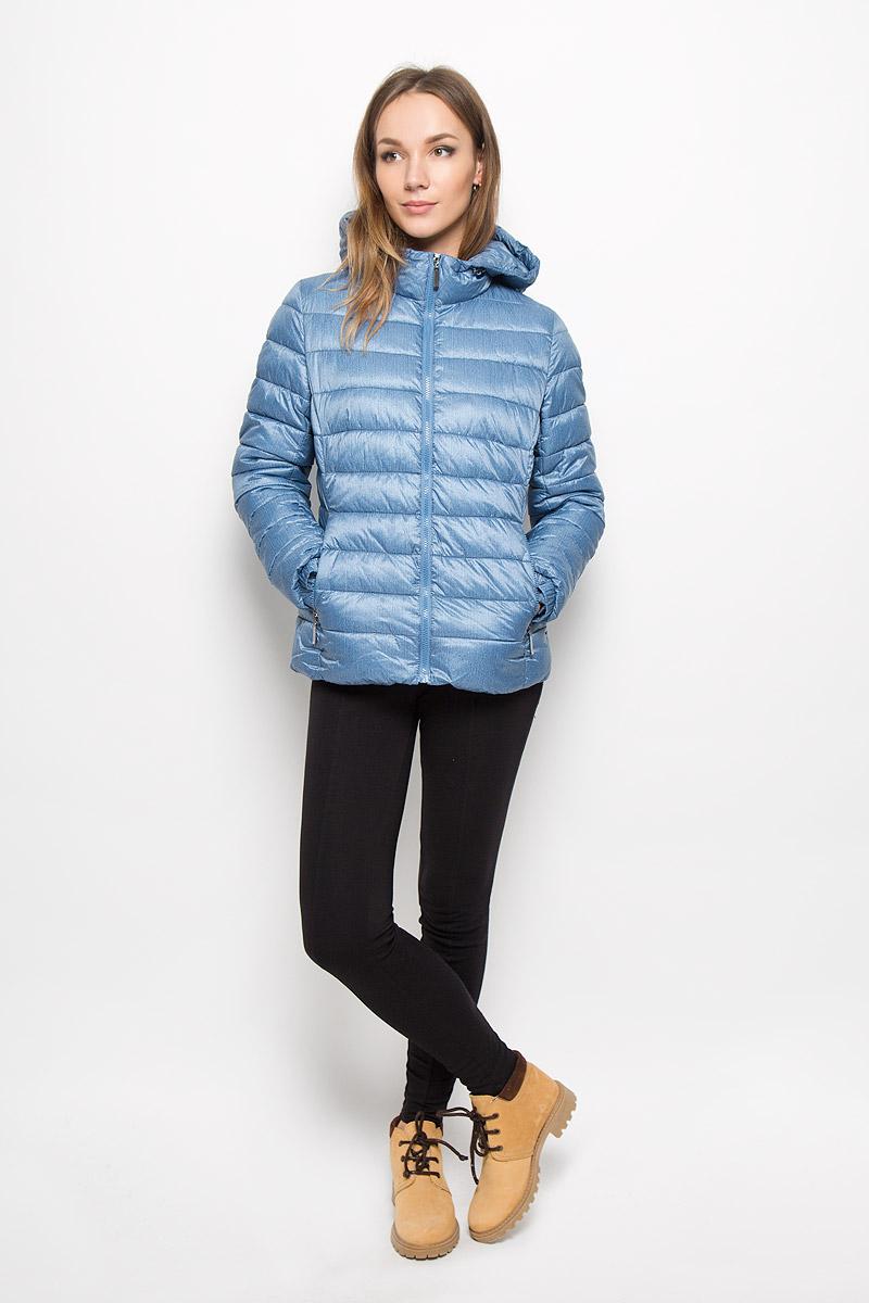 Куртка женская Grishko, цвет: джинсовый. AL-2968. Размер 44AL-2968Яркая женская куртка Grishko выполнена из 100% полиамида с наполнителем из полиэстера. Оформлена в трендовой цветовой гамме нового осенне-зимнего сезона. Такая модель отлично подойдет для прохладной погоды.Куртка с капюшоном приталенного кроя застегивается на застежку-молнию. Капюшон дополнен резинкой со стопперами, благодаря чему можно регулировать его в размере. Модель снаружи дополнена двумя втачными карманами на молниях. Манжеты рукавов оформлены на резинках.Очень комфортная и стильная куртка будет прекрасным выбором для повседневной носки и подчеркнет вашу индивидуальность.
