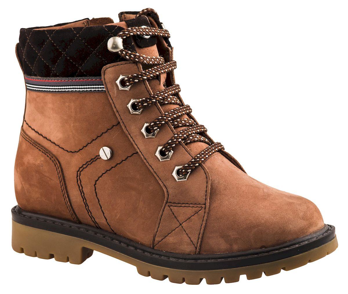 Ботинки для мальчика Elegami, цвет: коричневый, темно-коричневый. 3/4-519631603. Размер 39519631603Модные ботинки для мальчика от Elegami выполнены из натурального нубука. Шнуровка надежно зафиксирует модель на ноге. Боковая застежка-молния позволяет легко снимать и надевать модель. Подкладка из шерсти и стелька из текстиля и шерсти не дадут ногам замерзнуть. Подошва и каблук дополнены рифлением.