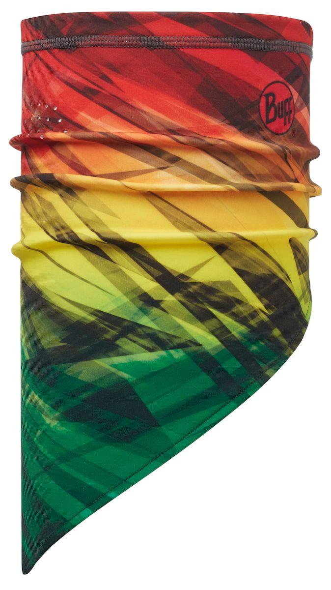 Бандана Buff Tech Fleece Cauwmulti-Multi-Standard, цвет: красный, желтый, зеленый. 113376.555.10.00. Размер 53/62 см113376.555.10.00Самая высокотехнологичная из бандан BUFF из серии Ketten. Сделана из акрила и эластана, с большой защитой от солнца и ветра. Высокая износостойкость без потери эластичности. Защита от пыли. Ткань обработана ионами серебра, обеспечивающими длительный антибактериальный эффект и предотвращающими появление запаха.