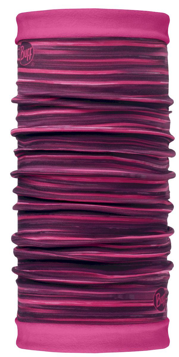 Шарф Buff Reflective Reversible Polar Alyssa Pink Paloma Pink, цвет: розовый. 113139.538.10.00. Размер 53/62 см113139.538.10.00Самым теплым шарфом в виде трубы является именно эта серия Buff Reversible. Бандана-шарф изготовлена в виде трубы высотой 50 см. Снаружи усилена эластичной тканью из полиэстера, на который нанесен красочный узор, а внутри по всей поверхности утеплена мягким и теплым флисом. Такую бандану-трубу можно использовать в качестве шарфа, маски на лицо и даже шапки. Подходит для средней и низкой активности или для занятий спортом в холодное время года, особенно если эти занятия связаны с периодами отдыха. Например, при катании на сноуборде, горных лыжах или просто прогулках в сильный мороз.