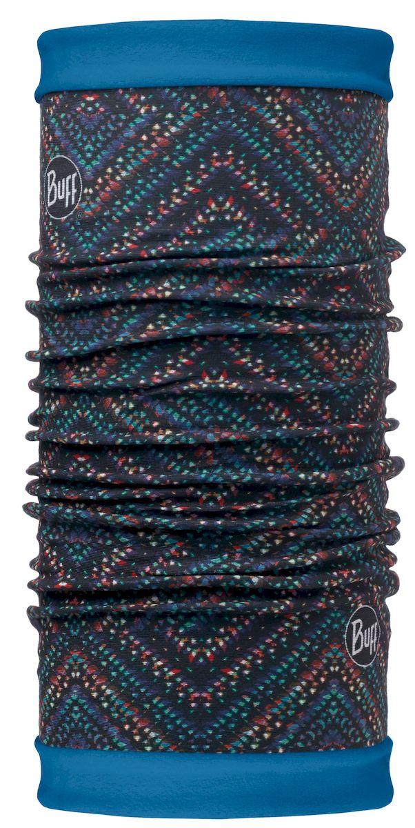 Шарф Buff Reversible Polar Lighting Multi Seaport-Multi-Standard, цвет: синий. 113140.555.10.00. Размер 53/62 см113140.555.10.00Самым теплым шарфом в виде трубы является именно эта серия Buff Reversible. Бандана-шарф изготовлена в виде трубы высотой 50 см. Снаружи усилена эластичной тканью из полиэстера, на который нанесен красочный узор, а внутри по всей поверхности утеплена мягким и теплым флисом. Такую бандану-трубу можно использовать в качестве шарфа, маски на лицо и даже шапки. Подходит для средней и низкой активности или для занятий спортом в холодное время года, особенно если эти занятия связаны с периодами отдыха. Например, при катании на сноуборде, горных лыжах или просто прогулках в сильный мороз.