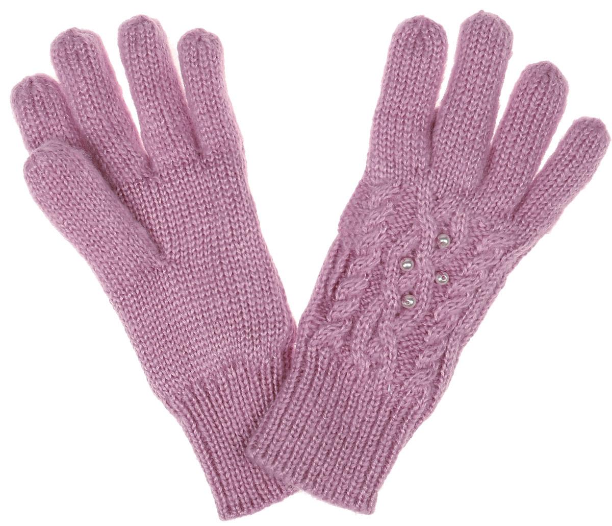 Перчатки для девочки Sela, цвет: бежевая роза. GL-643/053AK-6404. Размер 14GL-643/053AK-6404Вязаные перчатки для девочки Sela идеально подойдут вашей дочурке для прогулок в прохладное время года. Изготовленные из акрила, они необычайно мягкие и приятные на ощупь, не сковывают движения и позволяют коже дышать, не раздражают нежную кожу ребенка, обеспечивая ему наибольший комфорт, хорошо сохраняют тепло. Внутри мягкая и приятная на ощупь подкладка выполненная из 100% полиэстера.Перчатки дополнены широкими эластичными манжетами, не стягивающими запястья и надежно фиксирующими их на ручках ребенка. Манжеты связаны крупной резинкой. Оформлены перчатки имитацией жемчуга. Оригинальный дизайн и расцветка делают эти перчатки модным и стильным предметом детского гардероба. В них ваша маленькая модница будет чувствовать себя уютно и комфортно и всегда будет в центре внимания!