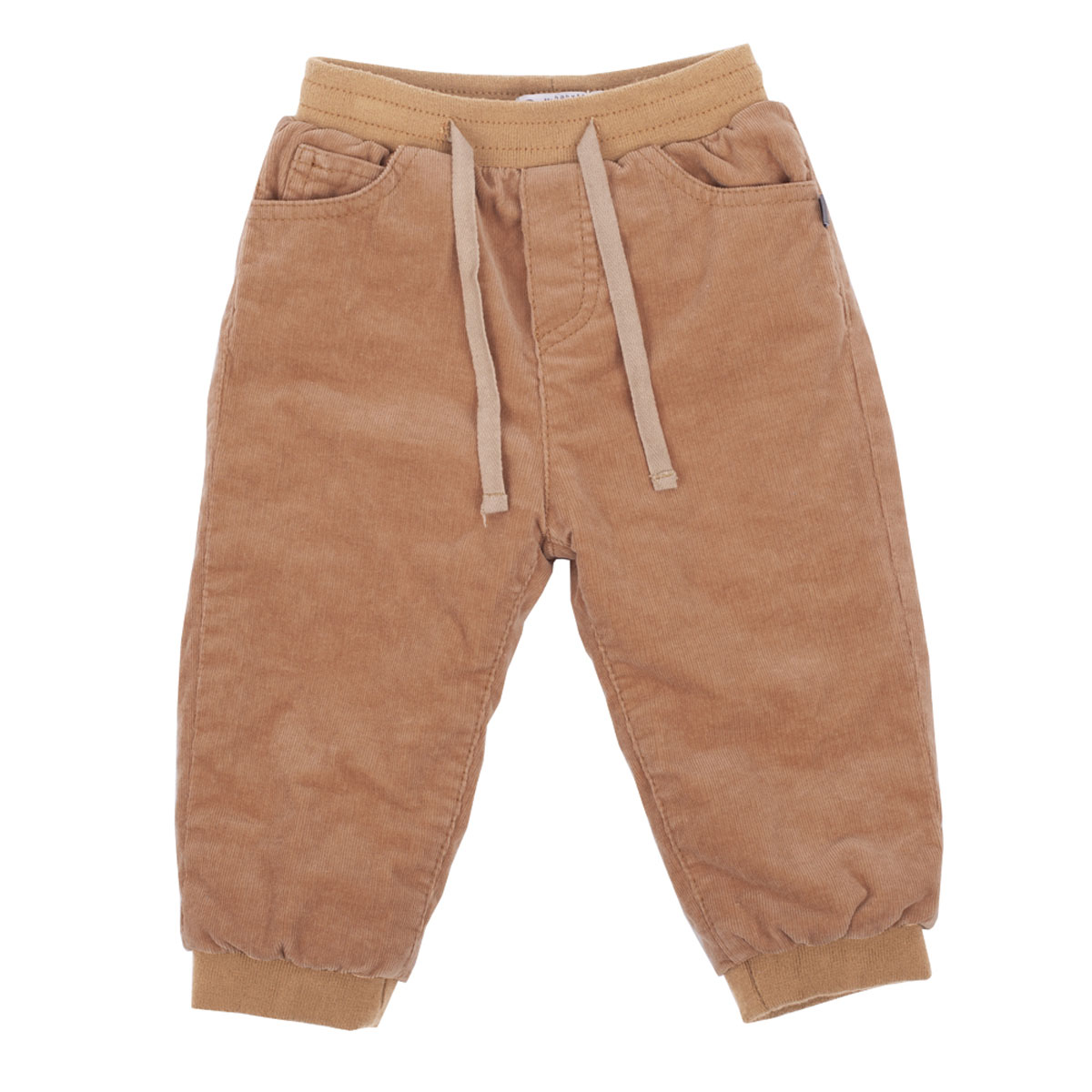 Брюки для мальчика Gulliver Baby, цвет: песочный. 216GBBC6401. Размер 74/80216GBBC6401Утепленные брюки для малышей! Что может важнее для длительных осенних прогулок на свежем воздухе! Их основная функция - сохранение тепла и, вне всяких сомнений, эти брюки с ней справятся на все 100! Удачная конструкция, выверенные пропорции не создают ненужного объема, мешающего свободе движений. Эти модные брюки из вельвета на трикотажной подкладке обеспечивают уют и комфорт.