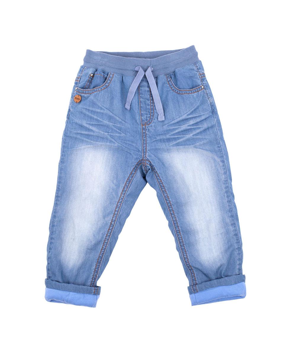 Джинсы для девочки Gulliver Baby, цвет: синий джинс. 216GBGC6401. Размер 86-92216GBGC6401Утепленные брюки для малышей! Что может важнее для длительных осенних прогулок на свежем воздухе! Их основная функция - сохранение тепла и, вне всяких сомнений, эти брюки с ней справятся на все 100! Удачная конструкция, выверенные пропорции не создают ненужного объема, мешающего свободе движений. Эти модные брюки с потертостями и заминами из синей джинсовой ткани на трикотажной подкладке обеспечивают уют и комфорт.