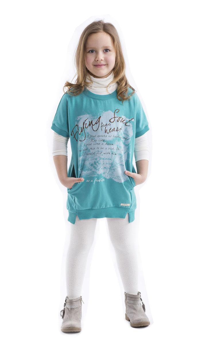 Водолазка для девочки Gulliver, цвет: молочный. 21602GMC1801. Размер 11021602GMC1801Детские водолазки - основа повседневного гардероба! Удобные и красивые, стильные детские водолазки способны добавить образу изюминку, а также подарить комфорт и свободу движений. Нежное трикотажное полотно, чуть расклешенная форма модели обеспечат мягкое и красивое прилегание изделия к фигуре.