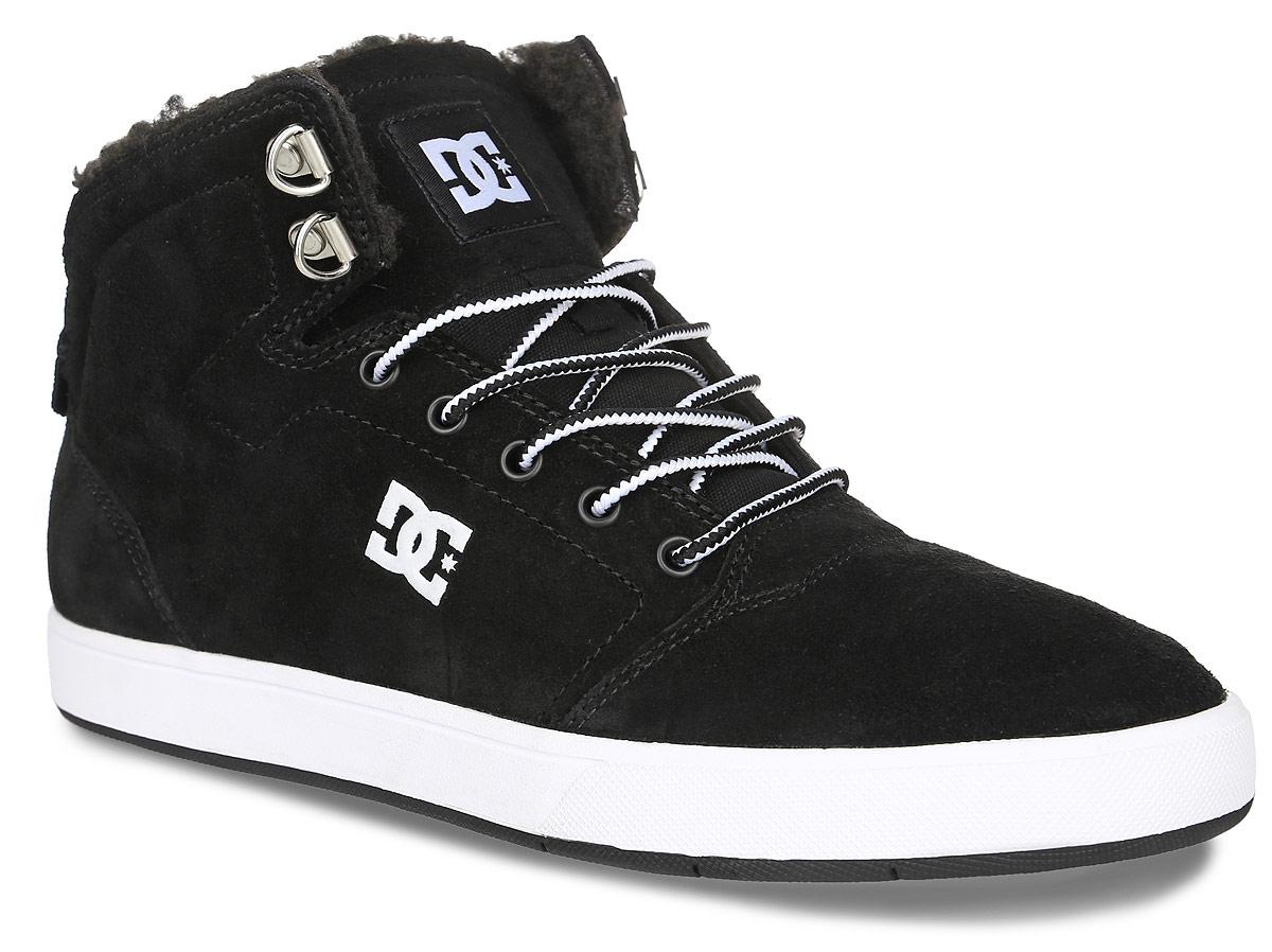 Кеды мужские DC Shoes Crisis High Wnt, цвет: черный. ADYS100116-BKW. Размер 8,5D (41)ADYS100116-BKWКеды от DC Shoes выполнены из натурального велюра и оформлены логотипом бренда и прострочкой. На ноге модель фиксируется с помощью шнурков. Внутренняя поверхность и стелька выполнены из искусственной шерсти, которая обеспечит тепло и уют. Подошва из высококачественной резины и дополнена протектором, который гарантирует отличное сцепление с любой поверхностью.