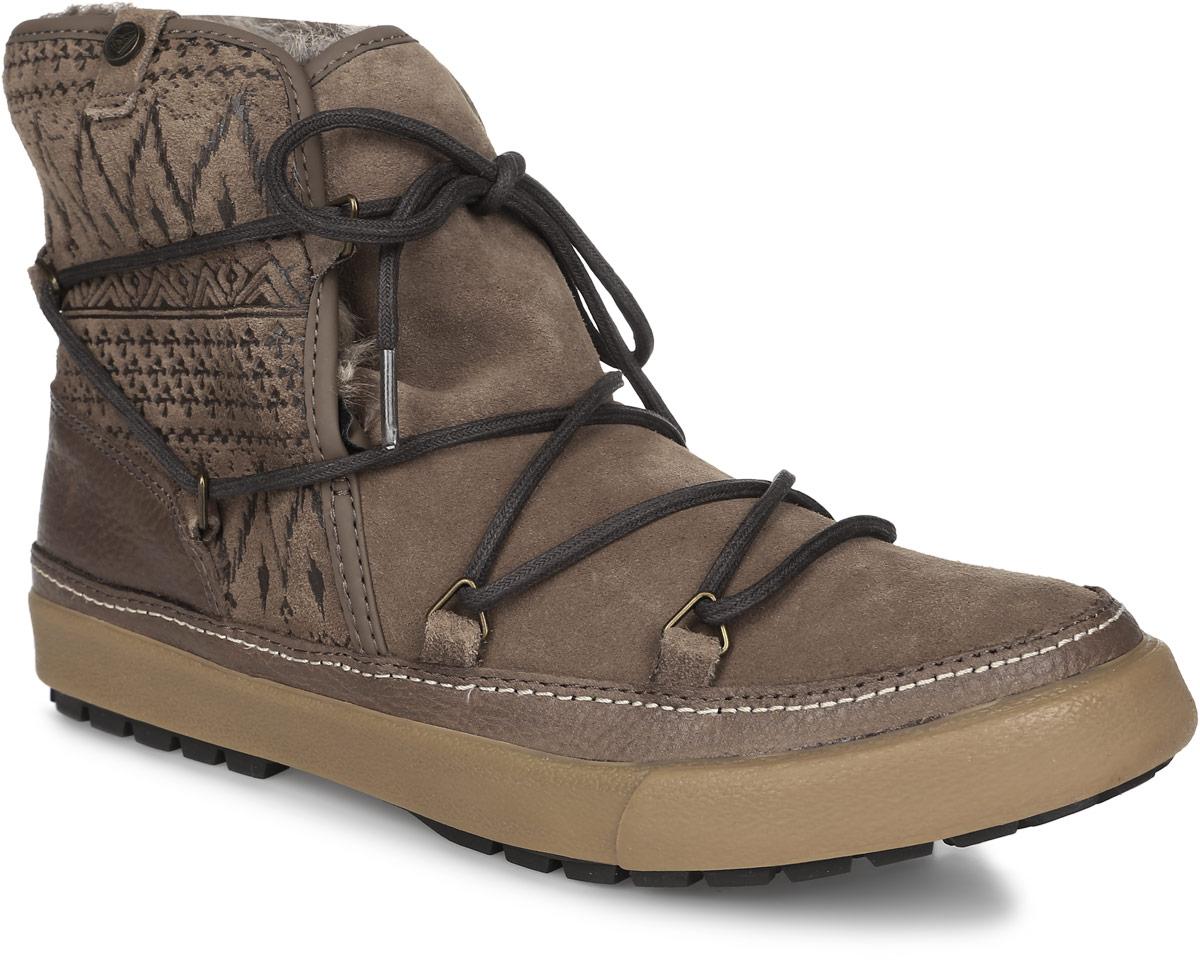 Ботинки женские Roxy Whistler, цвет: коричневый. ARJB300007-TAN. Размер 8 (37)ARJB300007-TANСтильные женские ботинки Whistler от Roxy заинтересуют вас своим дизайном с первого взгляда! Модель выполнена из натуральной кожи. Подкладка и стелька из искусственного меха не дадут ногам замерзнуть. Оригинальная шнуровка надежно зафиксирует модель на ноге. Подошва с рифлением обеспечивает отличное сцепление с любой поверхностью.