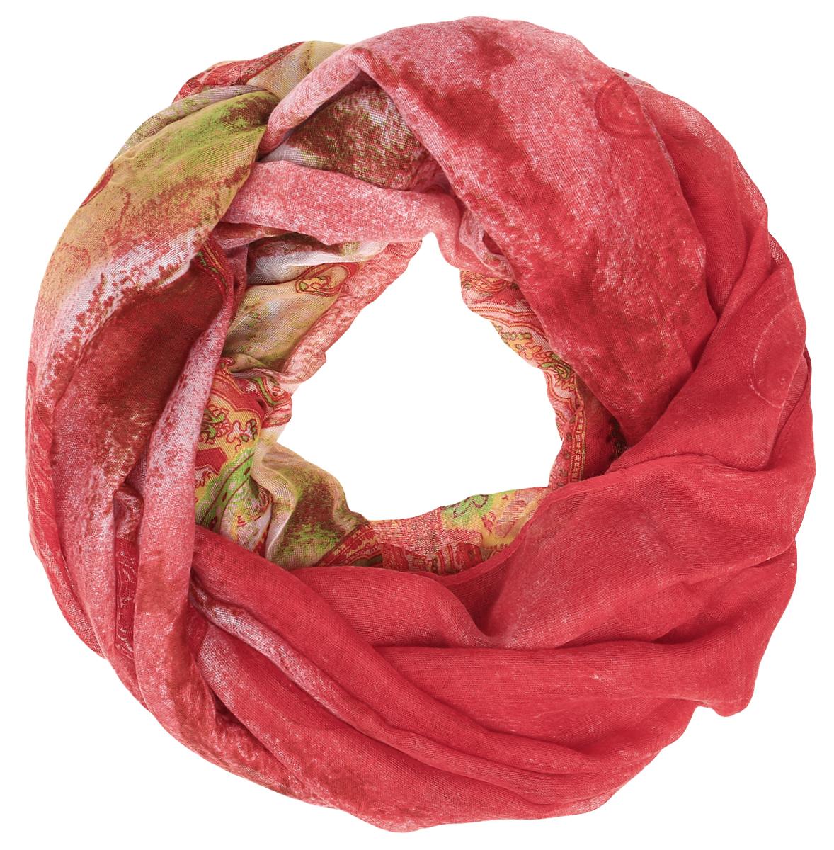 Палантин женский Fabretti, цвет: красный, зеленый, бежевый. TUT-F145. Размер 90 см х 180 смTUTF145-3Элегантный палантин Fabretti, изготовленный из высококачественного материала, создан подчеркивать роскошную неоднозначность вашего образа. Палантин оформлен интересным принтом. Этот модный аксессуар женского гардероба гармонично дополнит образ современной женщины, следящей за своим имиджем и стремящейся всегда оставаться стильной и элегантной. В этом палантине вы всегда будете выглядеть женственной и привлекательной.